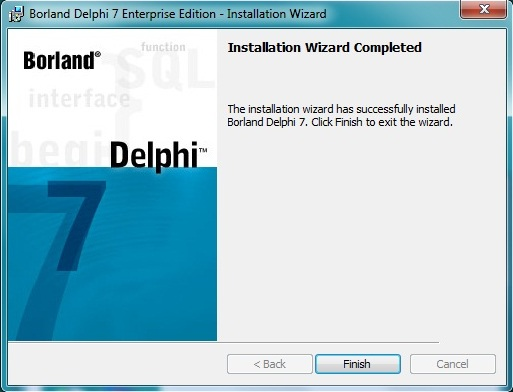 cara menginstall Delphi 7 di windows 10