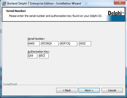tutorial install borland delphi 7 serial number